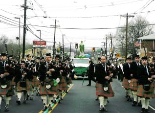 Saint Columcille United Gaelic Pipe Band.